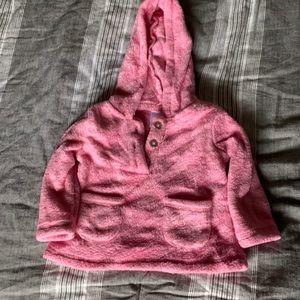 Kidgets girls pink fuzzy hoodie with pockets